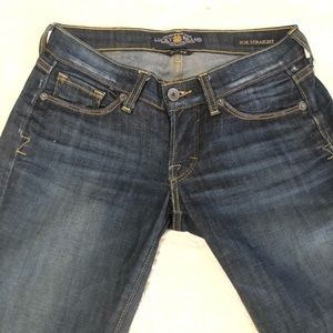 Lucky Brand Zoe Straight leg jeans size 0/25